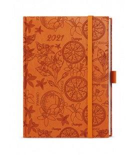 Daily Diary B6 - Adam - vivella extra orange - Pomeranč 2021