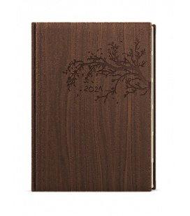 Daily Diary A5 - Ctirad s výsekem - wood brown 2021