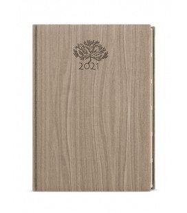 Daily Diary A5 - Ctirad s výsekem - wood light brown 2021