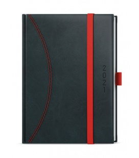 Daily Diary A5 - David - nero black, red 2021