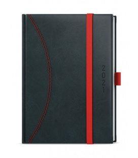 Daily Diary A5 - David - nero black, red 2021