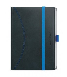 Daily Diary A5 - David - nero black, blue 2021