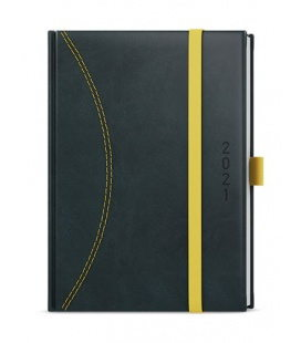 Daily Diary A5 - David - nero black, yellow 2021