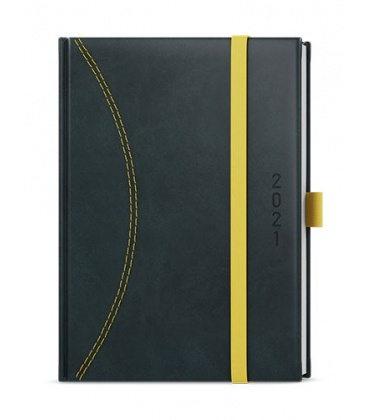 Daily Diary A5 - David - nero black, yellow 2021