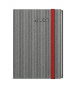 Daily Diary A5 - David - vigo  grey, red 2021