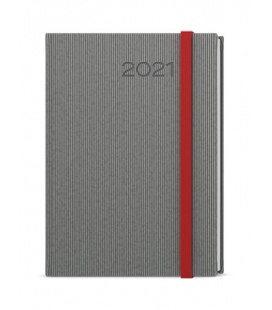 Daily Diary A5 - David - vigo  grey, red 2021