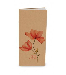 Monthly Pocket Diary - Božka - kraft - Květy 2021