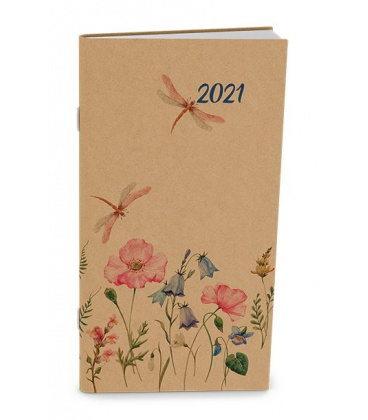 Monthly Pocket Diary - Halina - kraft - Louka 2021