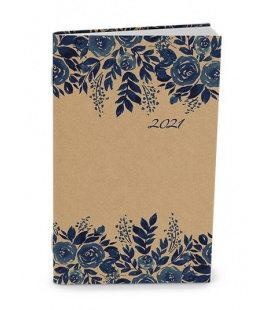 Monthly Pocket Diary - Marika - kraft - Modrotisk 2021