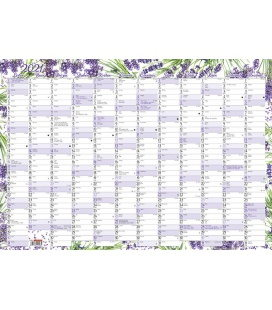 Wall calendar Yearly planing map (600x420 mm) - Levandule 2021
