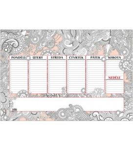 Table calendar Stolní plánovač A2 - týd. mapa - 30 listů - ANTISTRES 2021