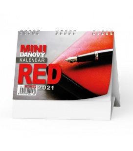 Table calendar Mini daňový kalendář RED 2021