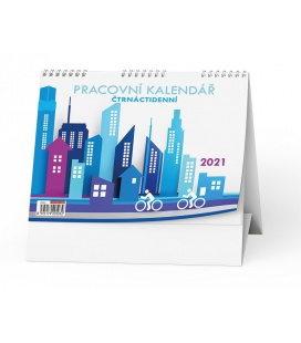 Table calendar Pracovní kalendář Čtrnáctidenní 2021