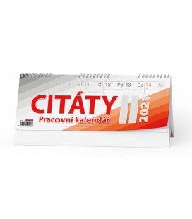 Table calendar Pracovní kalendář CITÁTY II 2021
