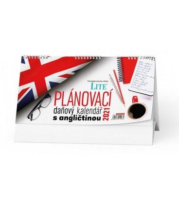 Table calendar Plánovací daňový kalendář s angličtinou 2021