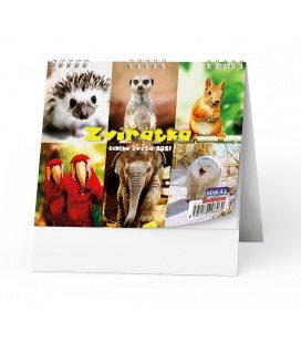 Table calendar IDEÁL - Zvířátka z celého světa 2021