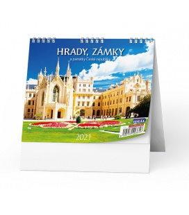 Table calendar IDEÁL - Hrady, zámky a památky ČR 2021