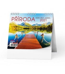 Table calendar IDEÁL - Příroda, hory, řeky, jezera… 2021