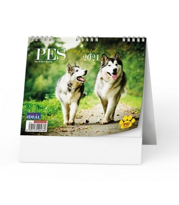 Table calendar IDEÁL - Pes - věrný přítel /s psími jmény/ 2021