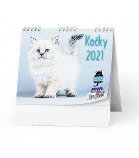 Table calendar IDEÁL - Kočky /s kočičími jmény/ 2021