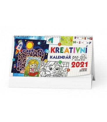 Table calendar Kreativní kalendář pro děti 2021