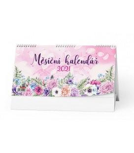 Table calendar Měsíční kalendář (měsíční kalendárium) 2021