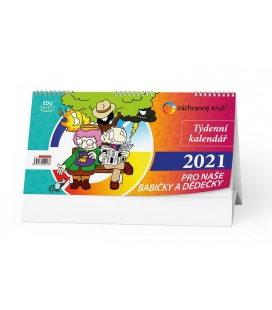 Table calendar Kalendář pro naše babičky a dědečky 2021