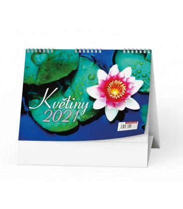 Table calendar Květiny 2021