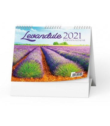 Table calendar Levandule  2021