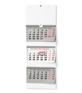 Wall calendar Tříměsíční - skládaný (s mezinárodními svátky) 2021