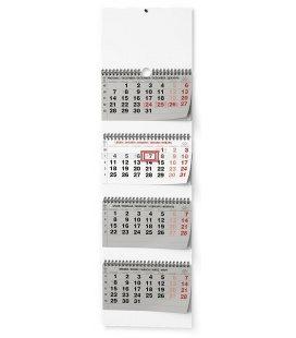 Wall calendar Čtyřměsíční - skládaný (s mezinárodními svátky) 2021