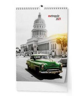 Wall calendar Metropole - A3 2021