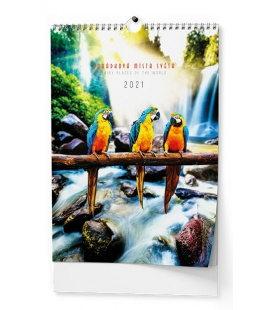 Wall calendar Pohádková místa - A3 2021