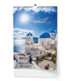 Wall calendar Beautiful world - A3 2021
