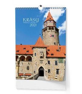 Wall calendar Krásy Moravy a Slezska - A3 2021