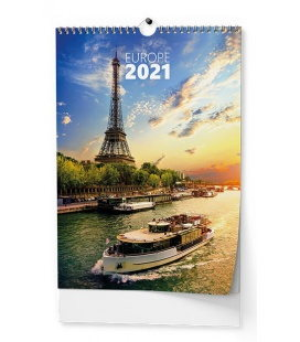 Wall calendar Evropa - A3 2021
