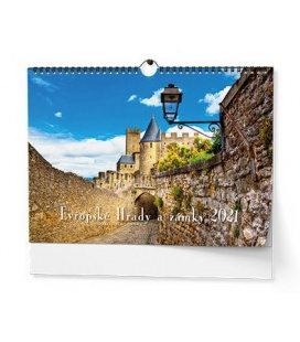 Wall calendar Evropské hrady a zámky - A3 2021