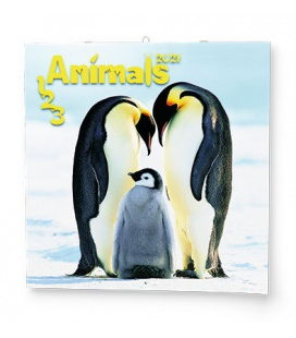 Wall calendar note 1-2-3 Animals  2021