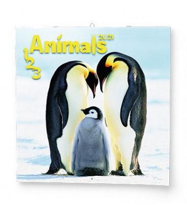 Wall calendar note 1-2-3 Animals  2021