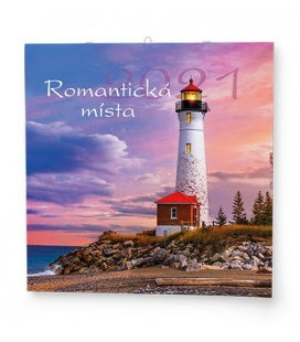 Wall calendar note Romantická místa 2021