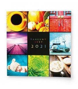 Wall calendar note Barevný svět 2021