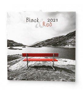 Wall calendar note Black&Red  2021