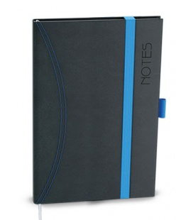 Notepad lined with a pocket A6 - nero black, blue 2021