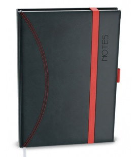 Notepad lined with a pocket A5 - nero black, green 2021
