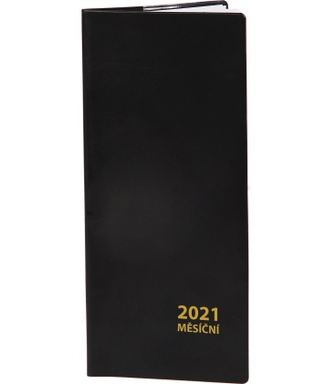 Pocket diary monthly PVC - black 2021