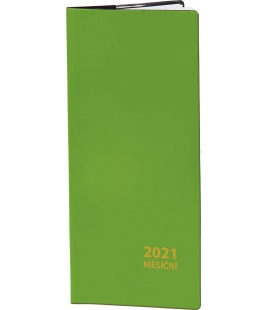 Pocket diary monthly PVC - green 2021