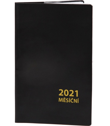 Pocket diary monthly PVC - MINI - black 2021
