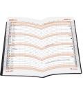 Pocket diary monthly PVC - MINI - bordo 2021