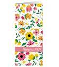 Pocket diary monthly lamino - Květiny 2021