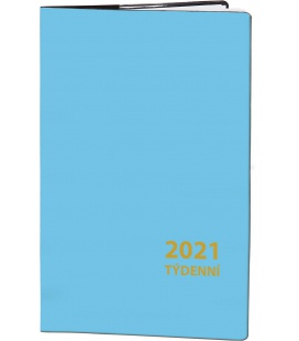 Pocket diary fortnightly PVC - blue 2021